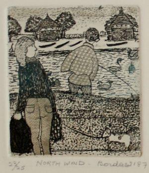 Dorothy Bordass North Wind etching
