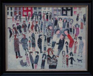 Fred Yates Street Life painting