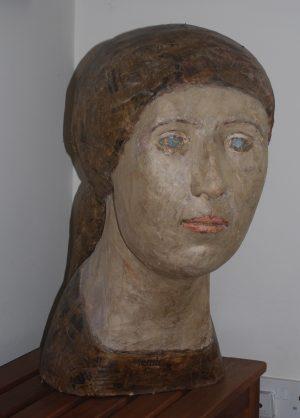 Head of a Girl by Geraldine Knight Statue