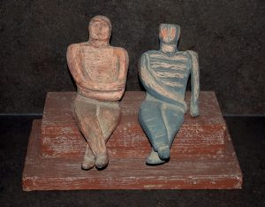 Seated Figures by Geraldine Knight Statue
