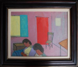 Interior painting by John Melville