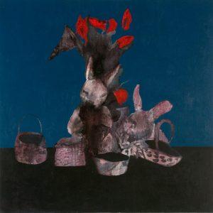 Rabbit painting by Sarah R Key