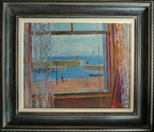 Vincent Lines the Harbour window painting