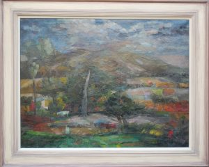 Frank Archer Donkey Hollow Willingdon Hill Painting
