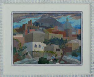 Frank Archer - Vesuvius painting framed