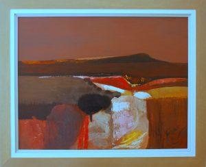 Kenneth Fernee Painting Moor hound tor