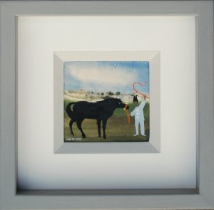 Mary Fedden - Pony and Jester painting