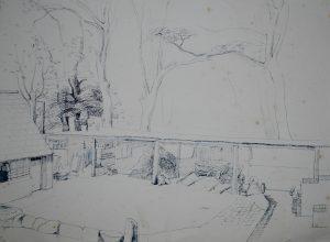 Franklin White - Barns at Shoreham Drawing