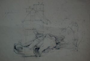Franklin White - Schoolhouse Drawing