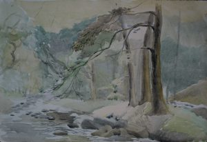 Franklin White - The Woodland Stream Painting
